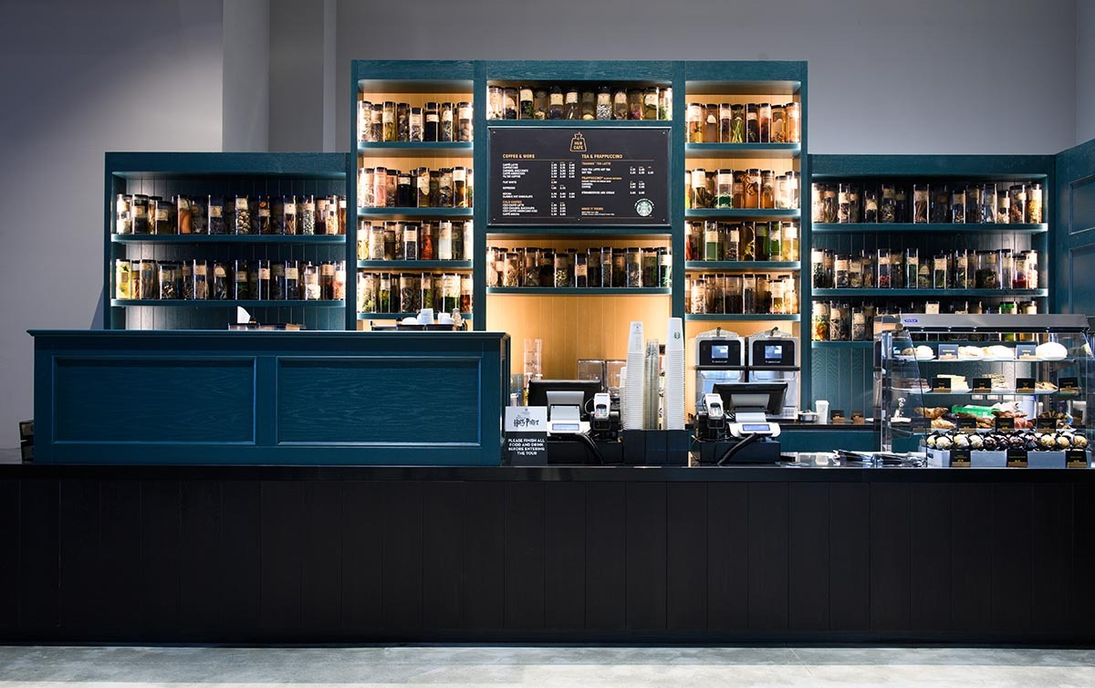 The Hub Cafe located in the Studio Tour lobby