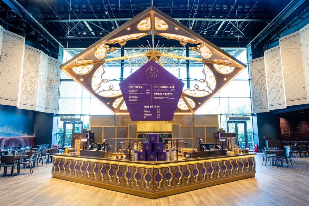The Chocolate Frog Cafe located in the Studio Tour lobby
