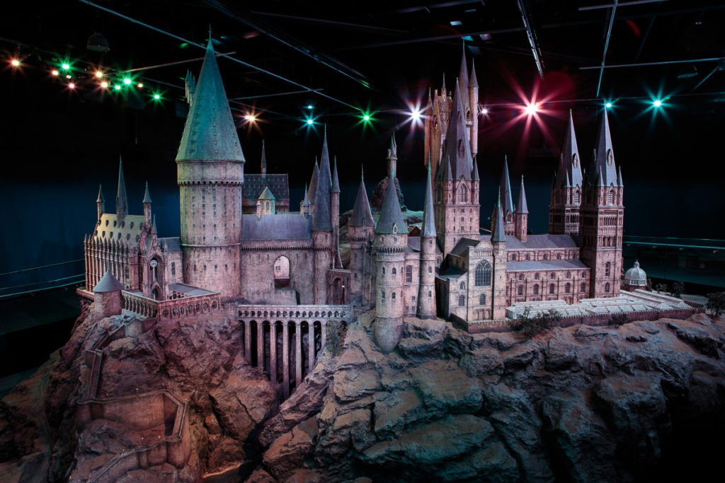 Hogwarts castle establishing shot
