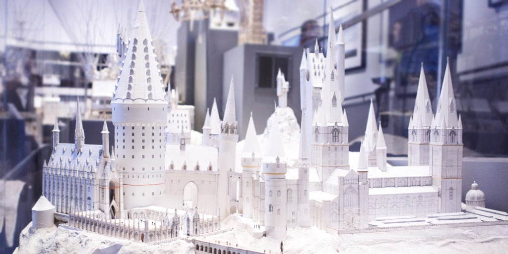White Card Model of Hogwarts