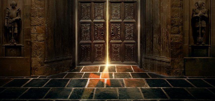 Great Hall Doors opening