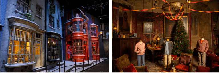 Hogwarts in the Snow - Diagon Alley and Gryffindor Common Room